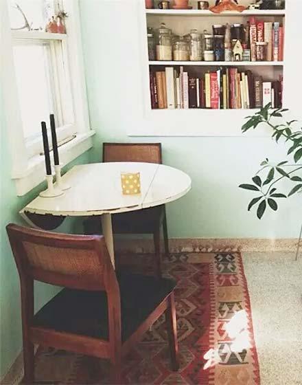 小户型折叠餐桌图片