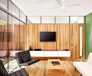 电视背景墙隐形门装修效果图