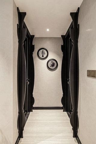 简欧风黑白走廊 创意隔断造型效果图