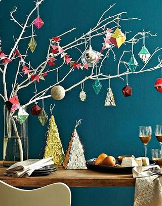 欢快氛围圣诞餐厅装修图片