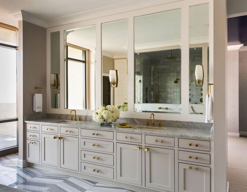 复古浴室柜图片