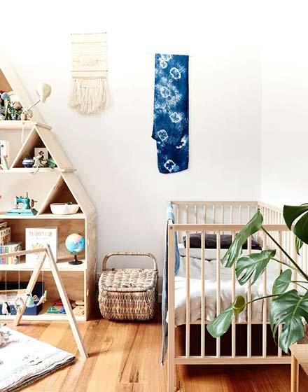 自然环保宜家风 原木婴儿房图片