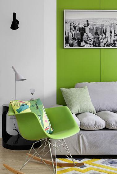 绿色单人椅效果图片