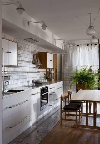 森系开放式厨房装修效果图