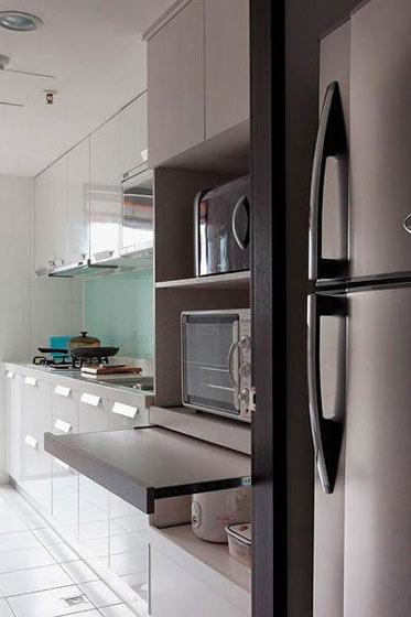 清新白色小厨房装修效果图