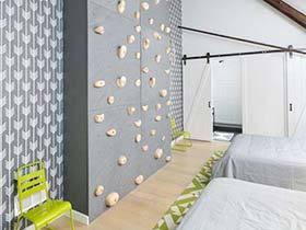 墙上另类艺术美 11个室内攀岩创意背景墙
