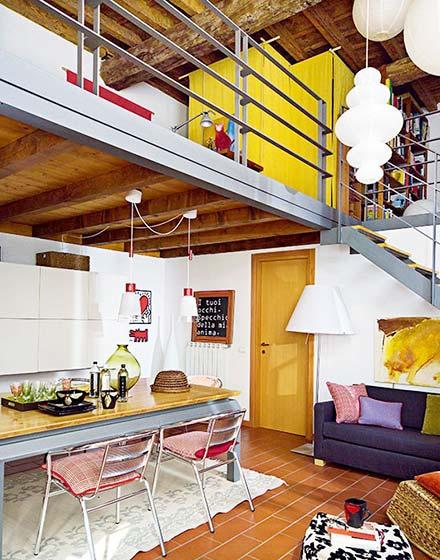 85平二层小复式楼装修效果图片高清图片