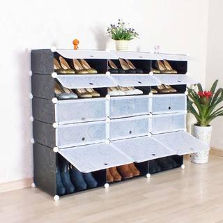 格子鞋柜图片