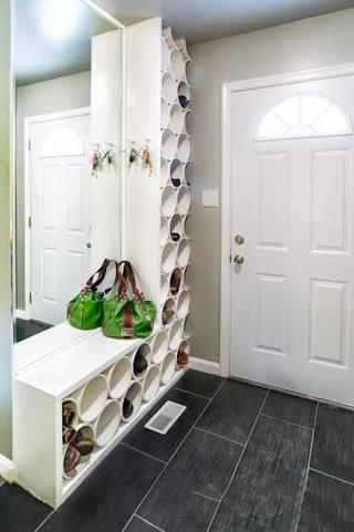 圆行鞋柜创意图片