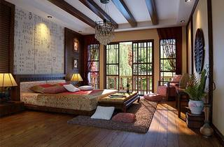 中式卧室效果图片