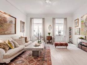 复古地中海风格 62平一居室装修效果图