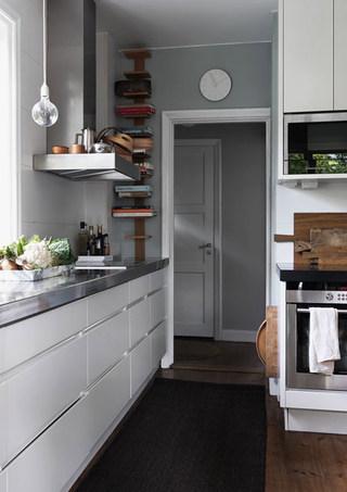 北欧风情干净白色厨房装修效果图