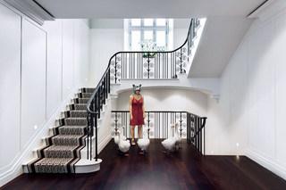华丽艺术混搭风别墅楼梯效果图