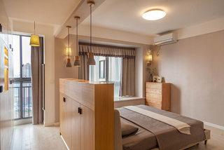 现代简约卧室隔断装修效果图