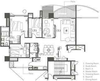 140平新古典房子装修设计图