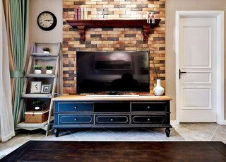 美式文化砖电视背景墙效果图