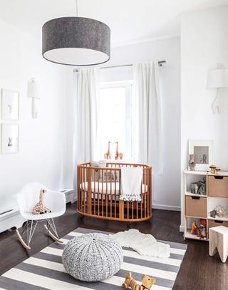 木质舒适婴儿床装修图片