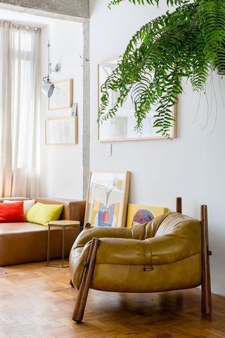 62平米森系温馨沙发角装修效果图