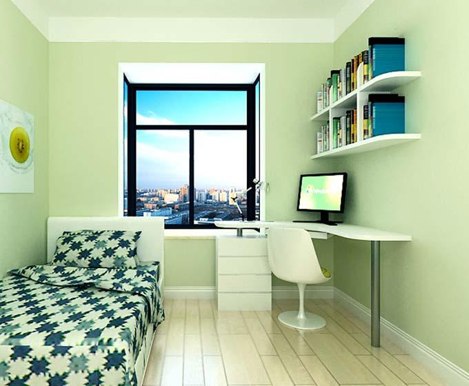 绿色卧室书房图片