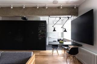 简约风格黑色小客餐厅装修效果图