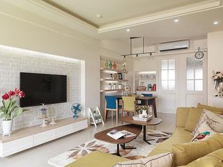 优雅白色文化砖电视背景墙效果图