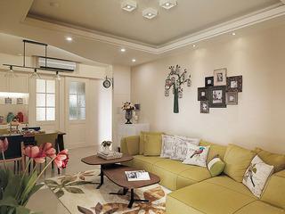 欧式清新浪漫客厅沙发背景墙效果图