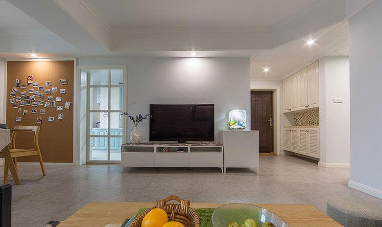 简欧风格客厅电视背景墙装修效果图