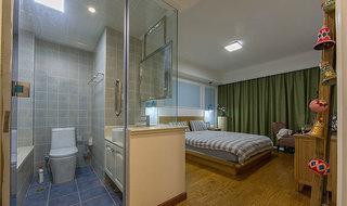 清新简欧风格 卫生间卧室玻璃隔断装修