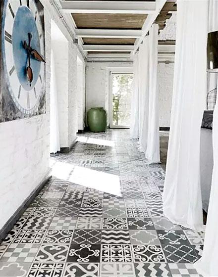 过道地板瓷砖贴图