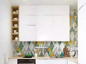 厨房请来花瓷砖 10个厨房瓷砖墙面装修图
