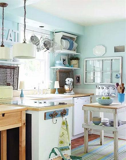 甜美可爱小户型厨房图