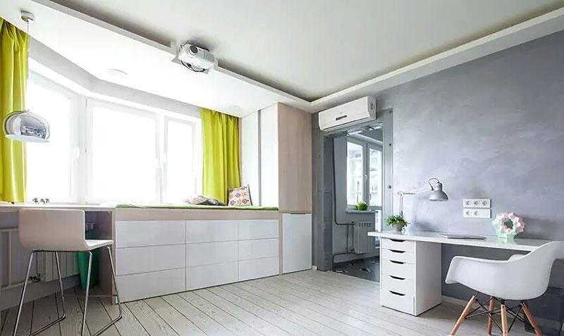 40平米单身公寓吧台装修图
