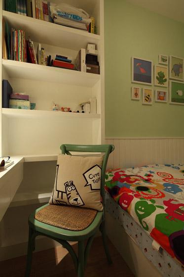 美式儿童房带小书房装修效果图