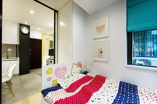 简约风格客厅改卧室装修效果图