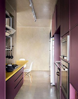 loft风格单身公寓厨房装修图片