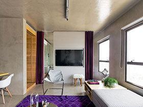 Loft风格简约家 68平米单身公寓装修图片