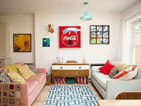 伦敦糖果色小屋 86平二居错层装修效果图