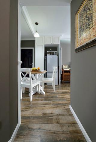 美式风格灰色过道墙壁装修效果图