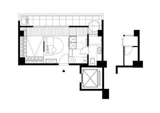 30平米错层迷你小屋房子装修设计图