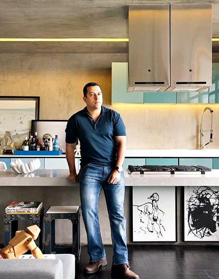 86平单身公寓厨房橱柜效果图