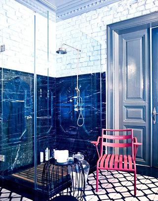 113平混搭风格浴室装修效果图
