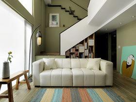 温馨森林小屋 62平挑高复式楼装修