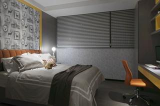 气质灰简欧风卧室效果图