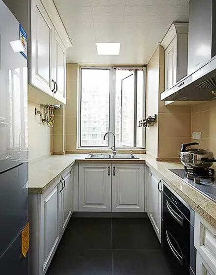 精致品味美式厨房 U型橱柜效果图图片