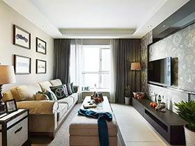 美式三居室  让你体验稳重的空间感