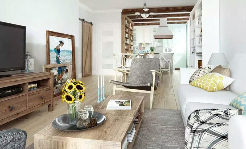 北欧风格单身公寓客厅装修