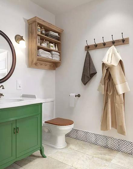 北欧风格单身公寓卫生间收纳图