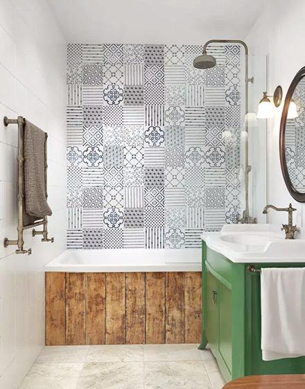 北欧风格单身公寓浴室墙面瓷砖图片