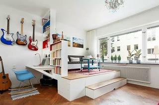46平米二居室错层装修图