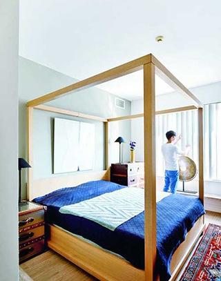103平混搭风格卧室装潢设计图